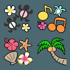 ハワイアンな大人の絵文字