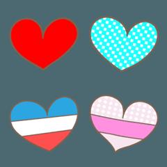 大人かわいいハートの絵文字 Heart Emoji