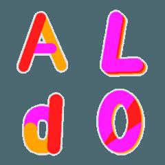 Deco-Moji(Alphameric):Worm color Vol.1