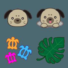 フラが大好きな犬の絵文字②