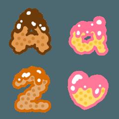 おいしいチョコクッキー文字(英数字)