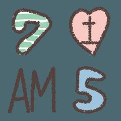 スケジュールのための手描きの数字と曜日