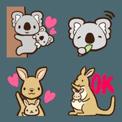 コアラ&カンガルーの可愛い絵文字