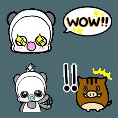 白くまパンダ絵文字2