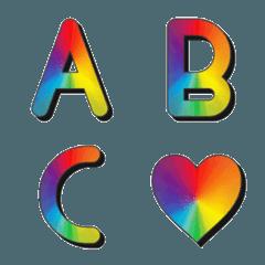 Rainbow and Shadow Emoji