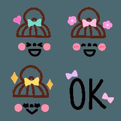 おだんごガールズフェイス絵文字2