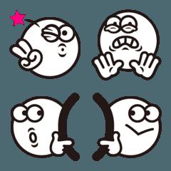シンプルまんまるフェイス絵文字2