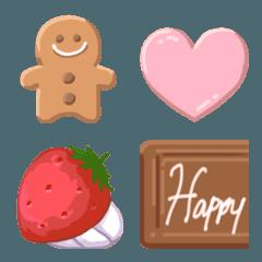 お菓子の家やケーキがつくれる絵文字