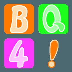 Deco-Moji(Alphameric):Worm color Vol.2