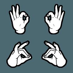 """""""手""""は口ほどに物を言う1 【白1】"""