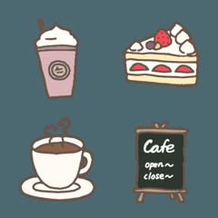 大人かわいいカフェ&スイーツ絵文字