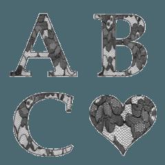 Black Lace Emoji