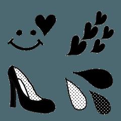 女の子のためのモノクロ&ドット絵文字