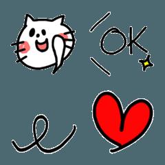 ネコとカワイイ絵文字