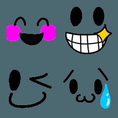 シンプルだけど可愛い顔文字と絵文字達1