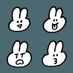 シンプル☆ゆるゆるうさぎ絵文字