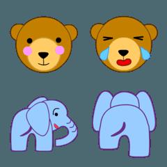 クマとゾウの絵文字
