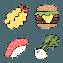見やすい 食べ物 絵文字