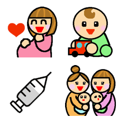 ママ絵文字 妊婦~赤ちゃん編