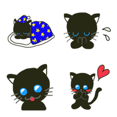 黒猫 絵文字