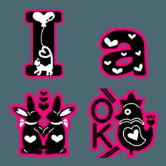 北欧っぽいデコ文字(英数字と絵文字)