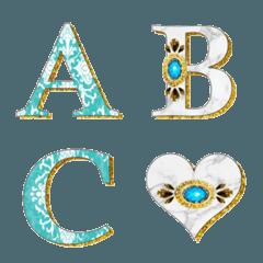 Turquoise Blue & Jewelry Emoji