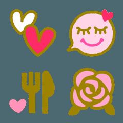 ピンク×ゴールド絵文字