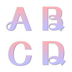 English uppercase 4 - Purple romance
