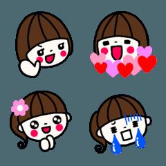 おかっぱ女子&ポニーテール女子 絵文字