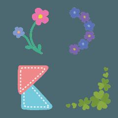 花とステッチの「かっこ」と「デコライン」