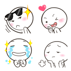 Stunt man White Emoji so cute