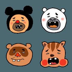 たくさんの顔(動物)