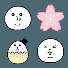 よく使うしろまるさん絵文字1~春編~