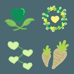 Green Love Decor Emoji