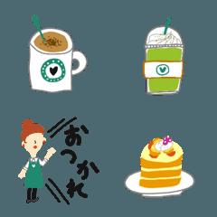 大人可愛いカフェ絵文字♡pocaママ