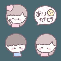 茶ふち絵文字 ♡ 16