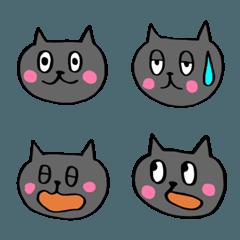 灰色の可愛い猫の絵文字
