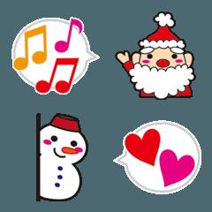 サンタクロースと雪だるまの絵文字1