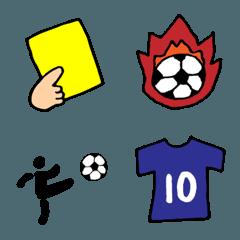サッカー絵文字。