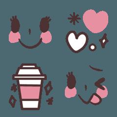 大人可愛いピンクのシンプルな絵文字