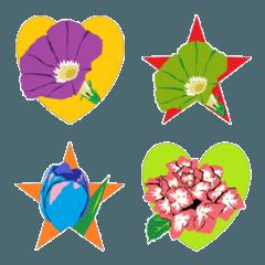 花と記号(マーク)