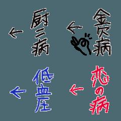 ←自分ツッコミ絵文字3【症状編】