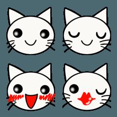 シンプルだけど可愛い猫の顔文字の絵文字