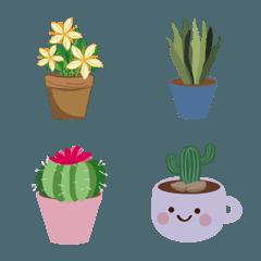 様々な美しい鉢植えの植物