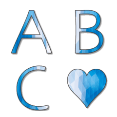 Blue Elegant Emoji