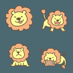 かわいいライオンさんのパステル絵文字