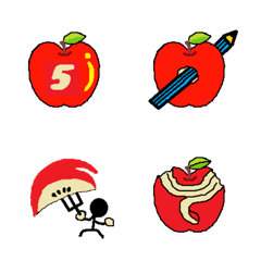 可愛いリンゴの絵文字