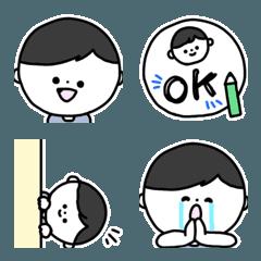 絵文字◎男の子の基本の表情