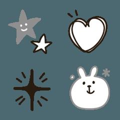 シンプル★モノトーン黒と灰色