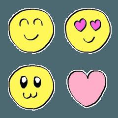 色んな顔の使いやすい絵文字